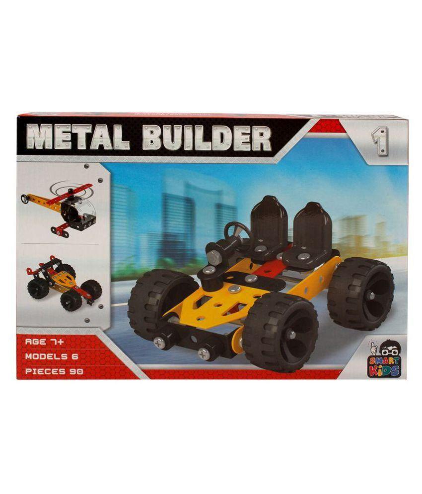 COMFORTLIVING Yellow Smart Kids Metal Builder Game Set - Buy