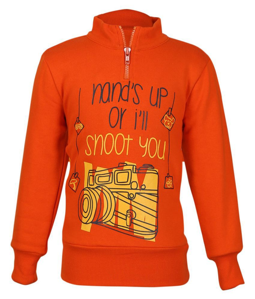 Cool Quotient Orange Sweatshirt