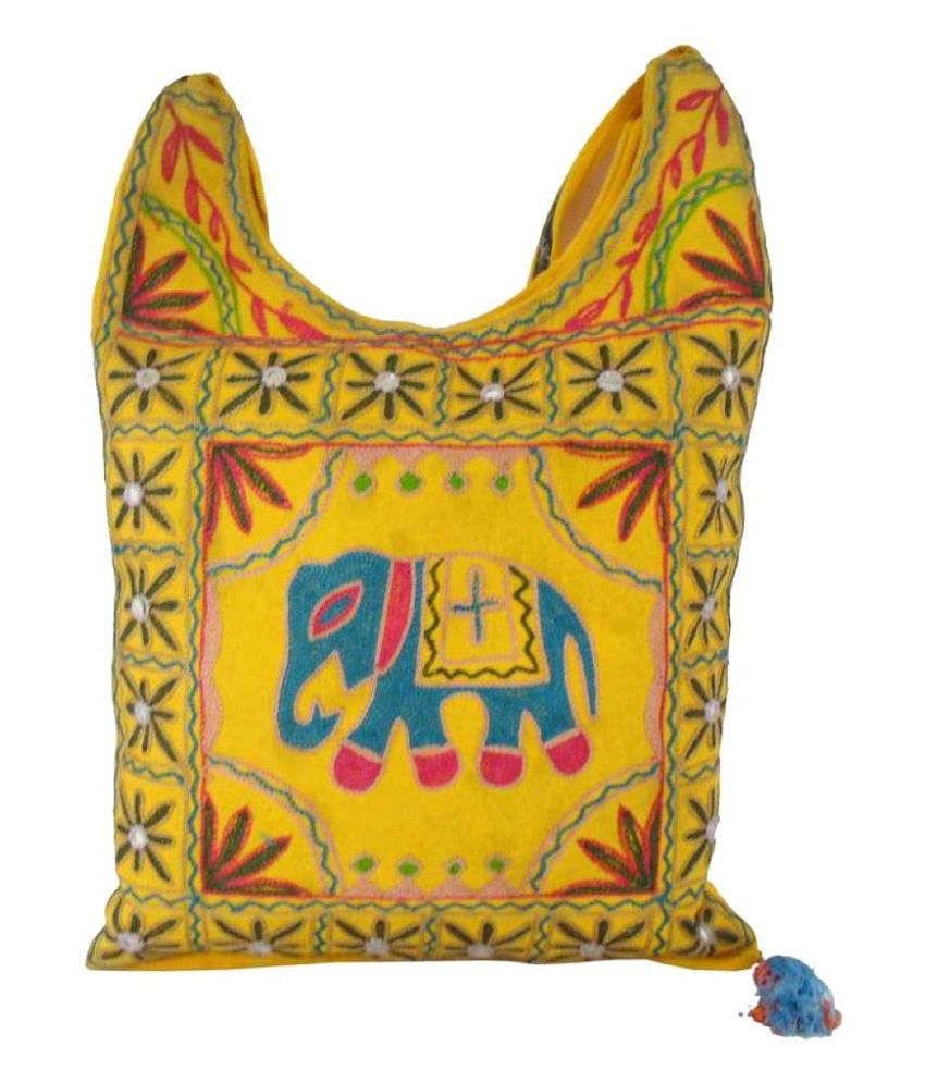 Shree Ganpati Plaza Fabric Multi Color Shopping Bag