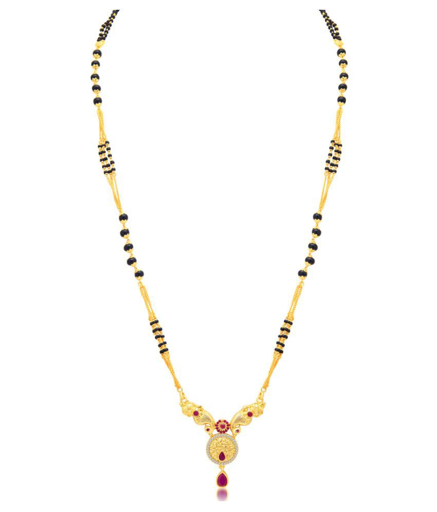 Sukkhi Classy Peacock Gold Plated AD Mangalsutra For Women