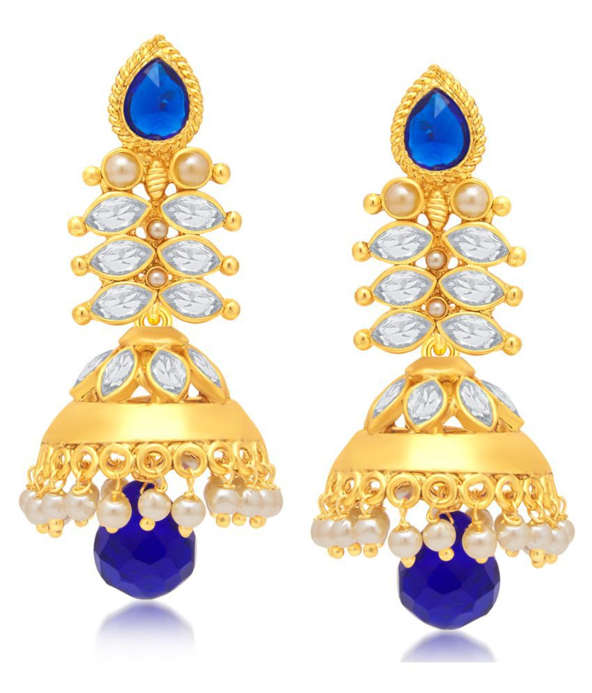 Sukkhi Cluster Gold Plated Jumka Earring for Women