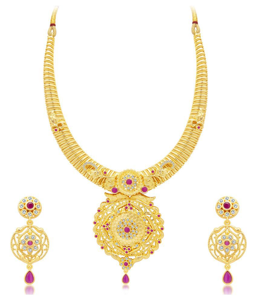 Sukkhi Incredible Gold Plated AD Necklace Set for Women - Buy ...