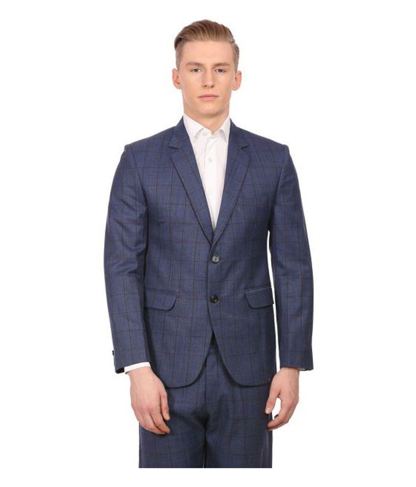 Wintage Blue Checks Party 2 Piece Suits