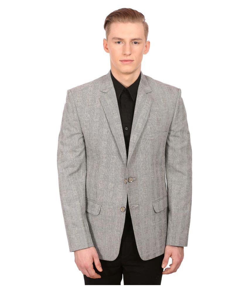 Wintage Grey Checks Formal Blazers