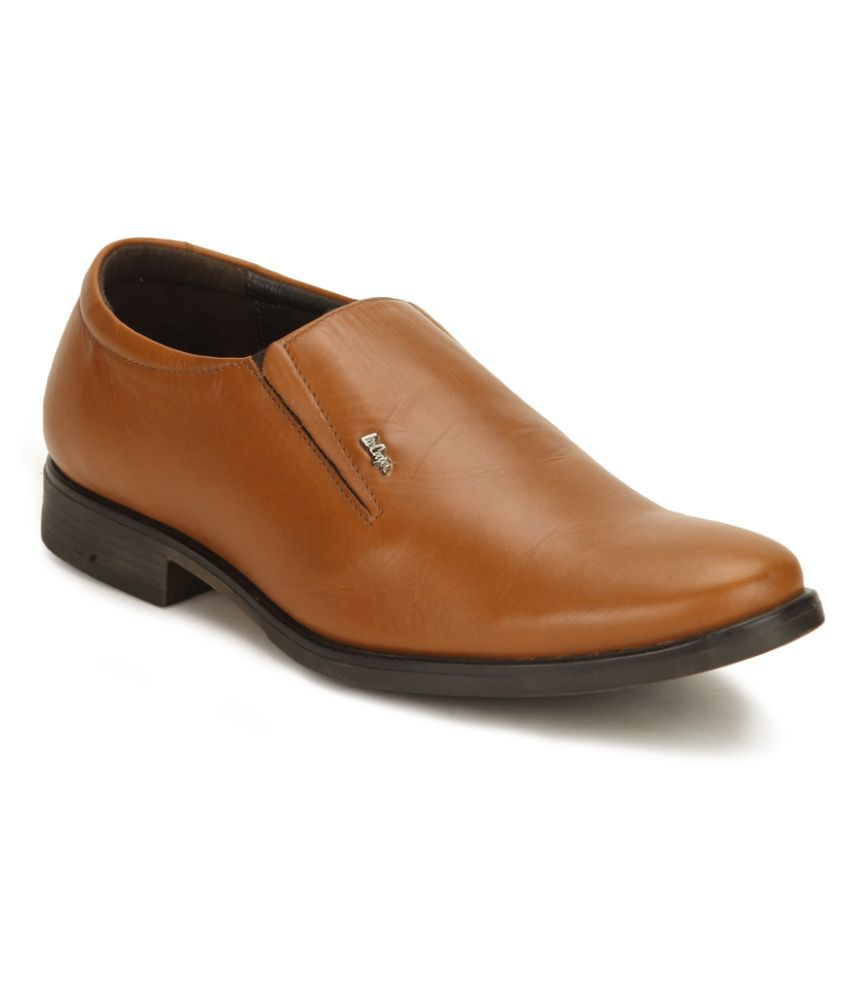Tan Office Genuine Leather Formal Shoes