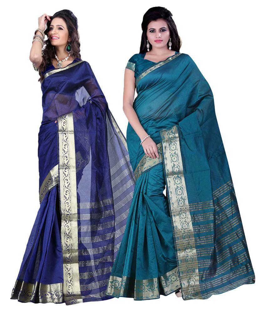Jay Fashion Multicoloured Banarasi Silk Saree Combos