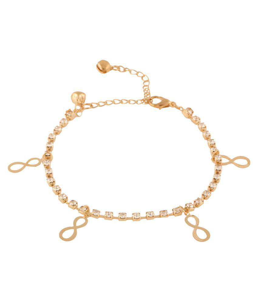 Jazz Jewellery Gold Alloy Anklets