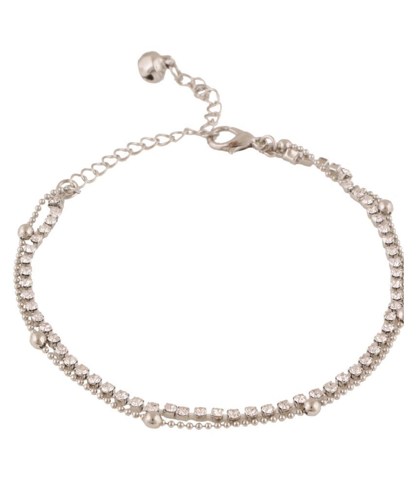 Jazz Jewellery Silver Anklet