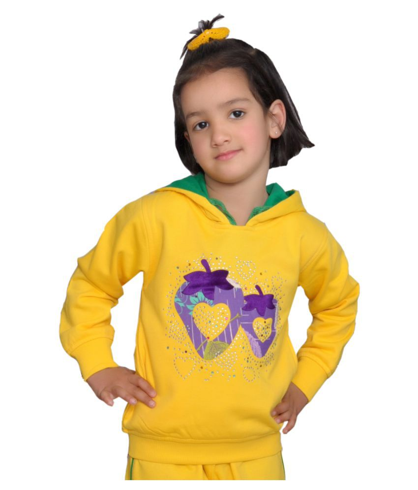 Shaun Yellow Sweatshirts for Girls