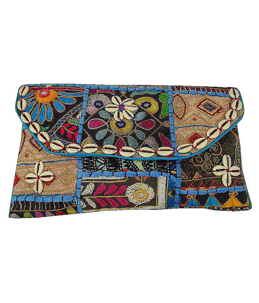 Shree Ganpati Plaza Multi Fabric Box Clutch