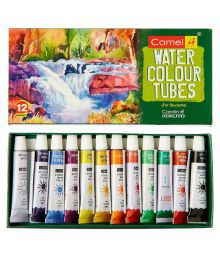 Camlin Kokuyo Water Colour Tube - 12 Shades