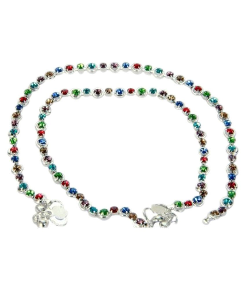 Charms Multi Color Alloy Anklets