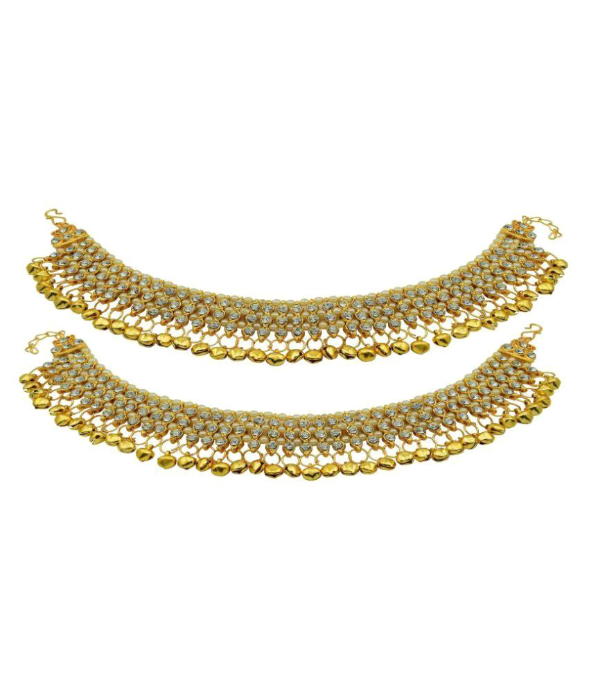 High Trendz Designer Golden Ghungroo Payal/Anklets for Girls and Women