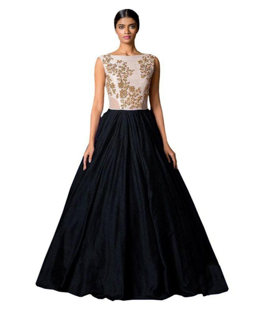 Bridal Collection White Raw Silk Anarkali Gown Semi