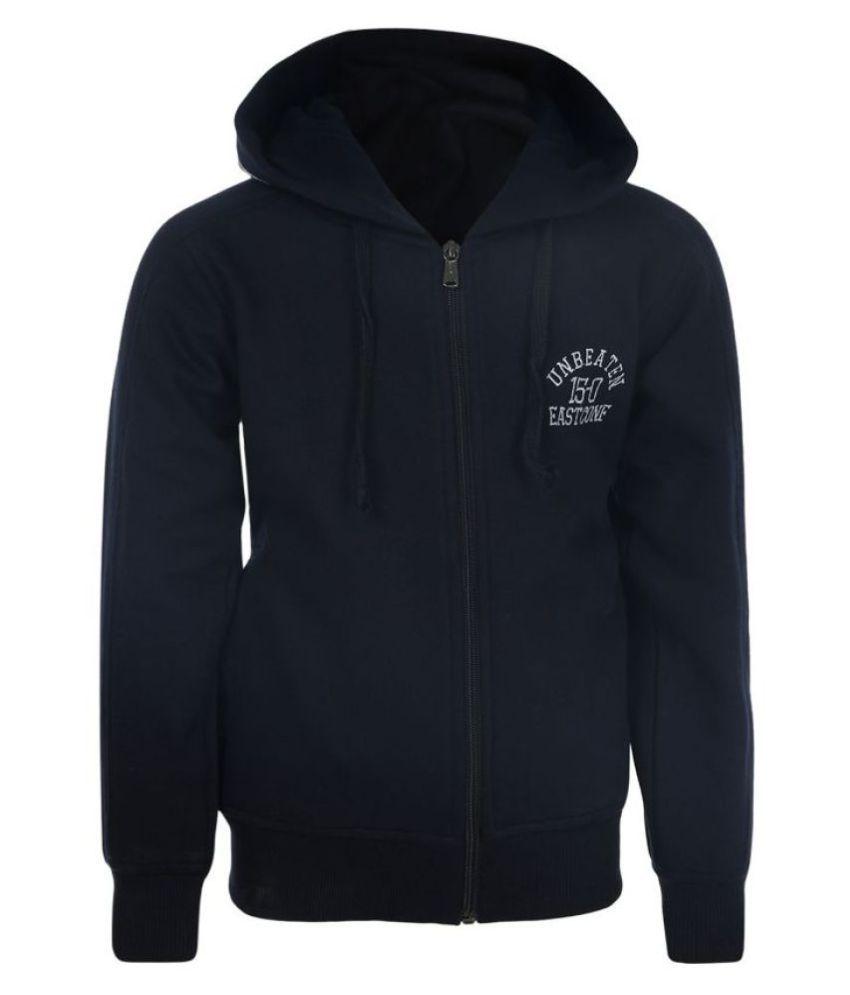 Haig-Dot Black Front Open with Hood Sweatshirt