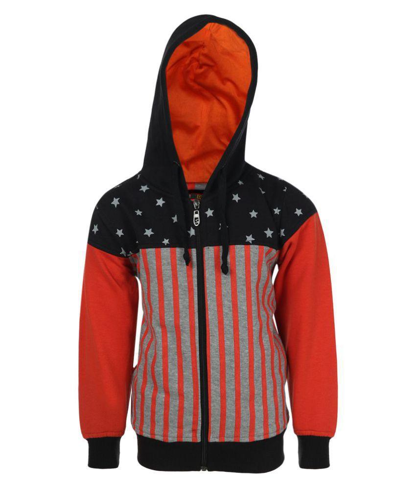 Haig-Dot Multicolour Fleece Front Open with Hood Sweatshirt