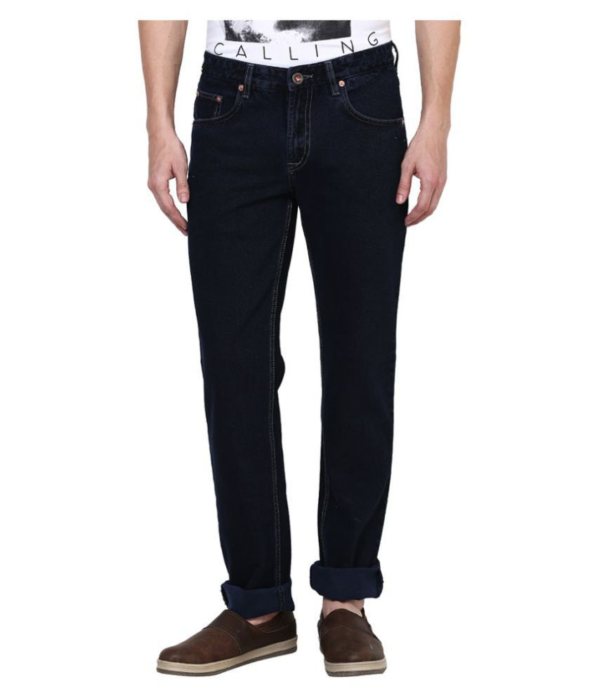 British Cross Navy Blue Regular Fit Solid