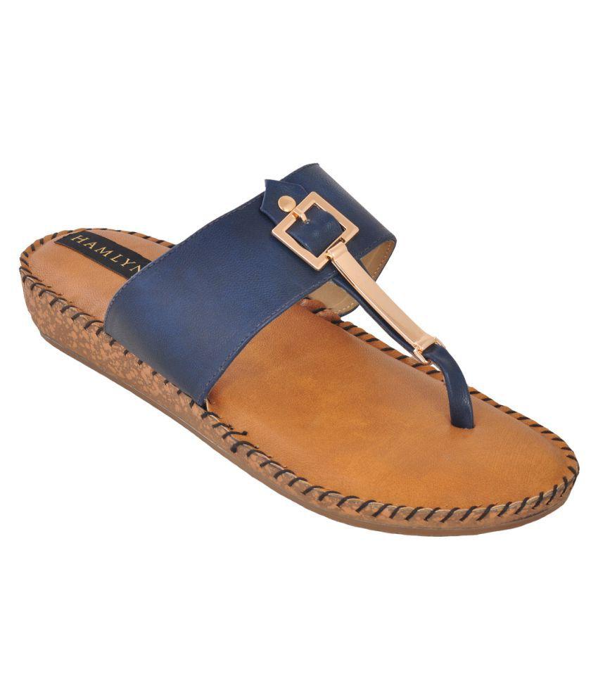 Hamlyn Shoes Blue Flats