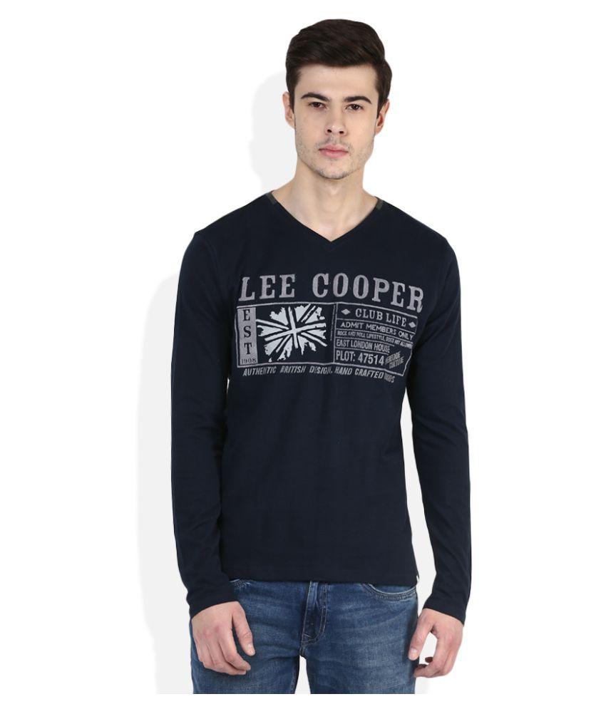 Lee Cooper Navy V-Neck T-Shirt