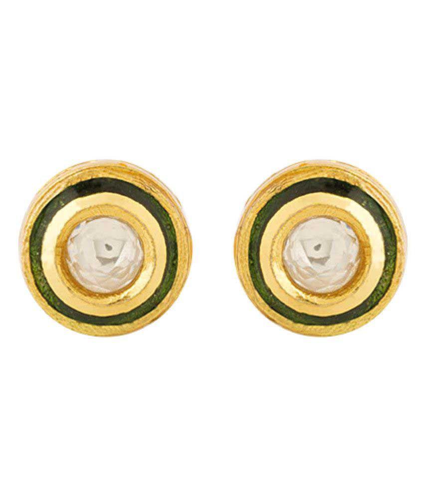 Voylla Kundan Studded Pair Of Stud Earrings