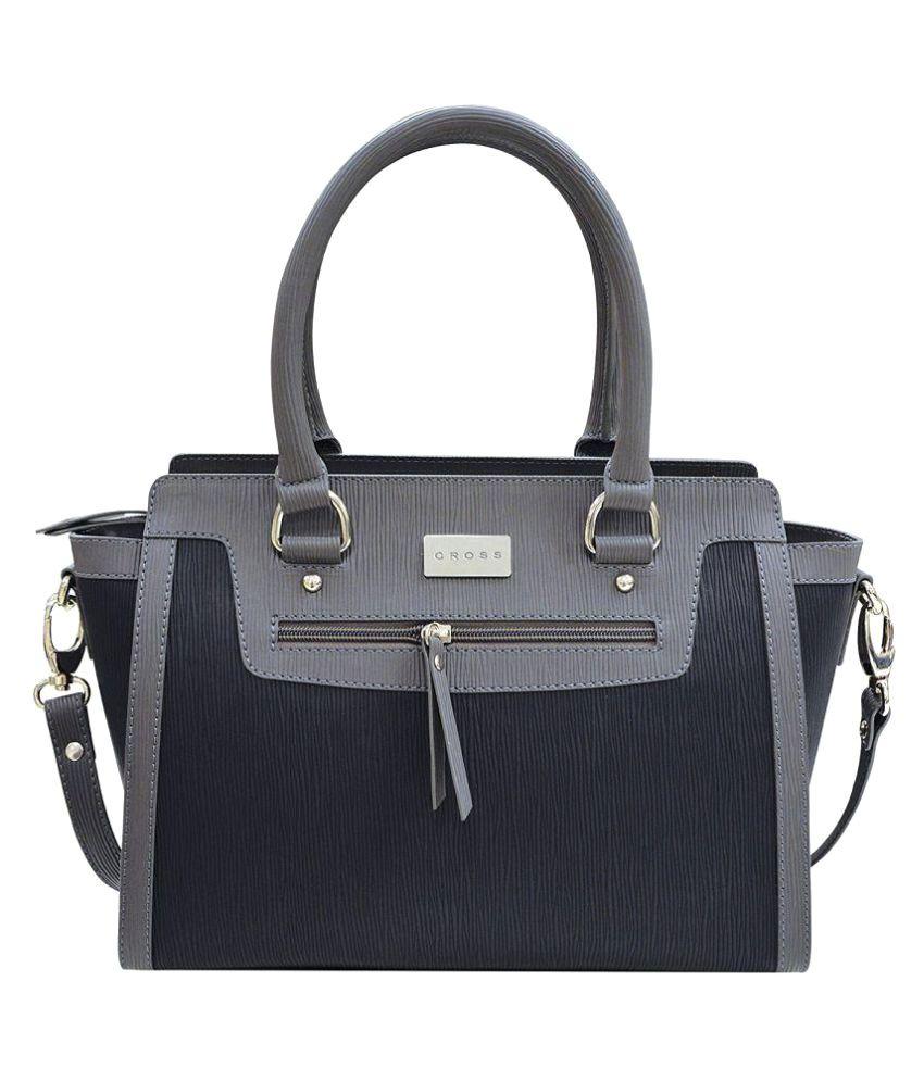 Cross Black Faux Leather Satchel Bag