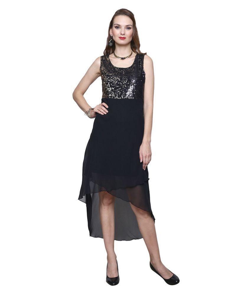 Trendsnu Georgette Asymmetric dress