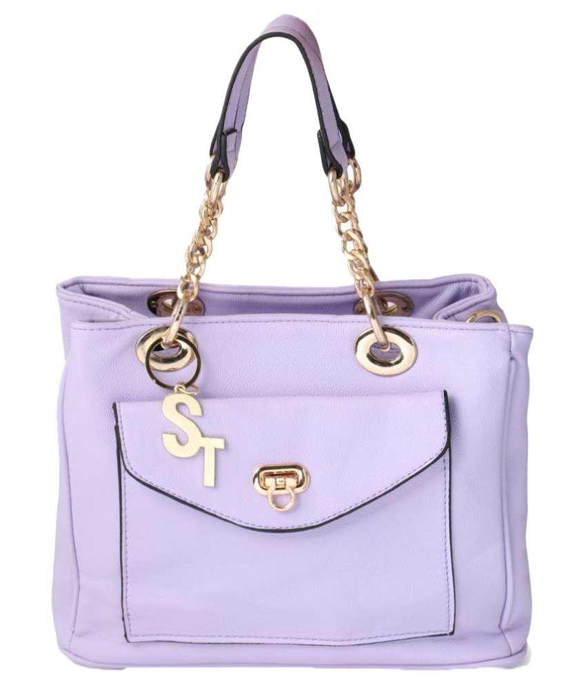 Stylathon Purple P.U. Handheld