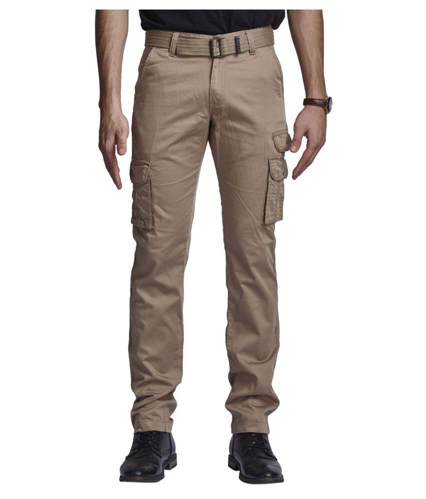 Beevee Beige Regular Flat Trouser