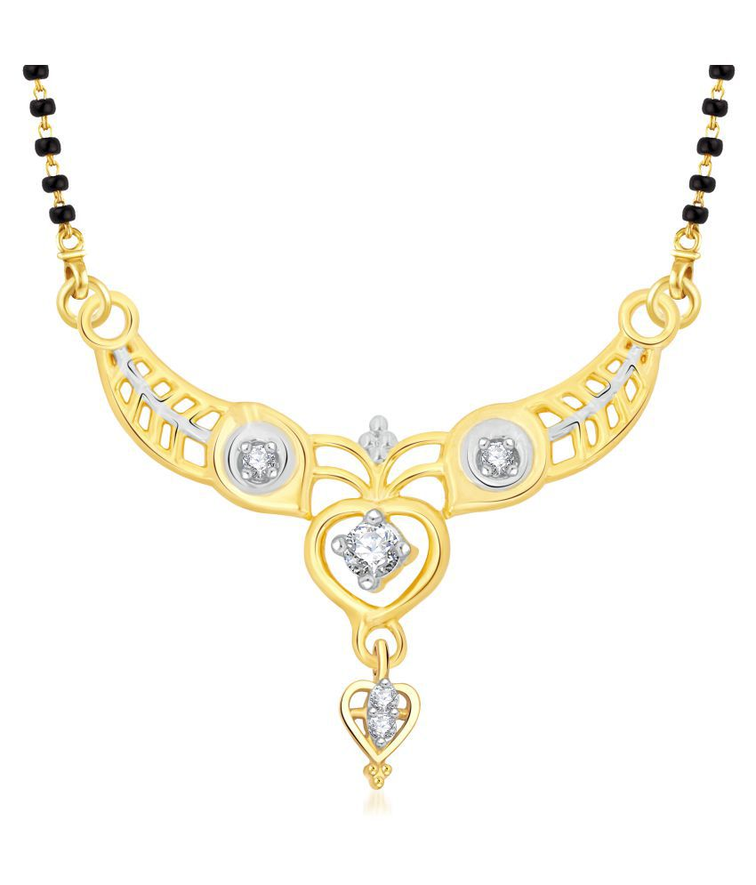 VShine Golden Alloy Mangalsutra Chain