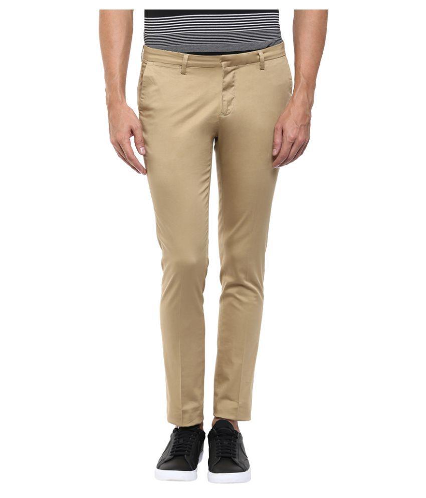 Mufti Khaki Slim Flat Trouser