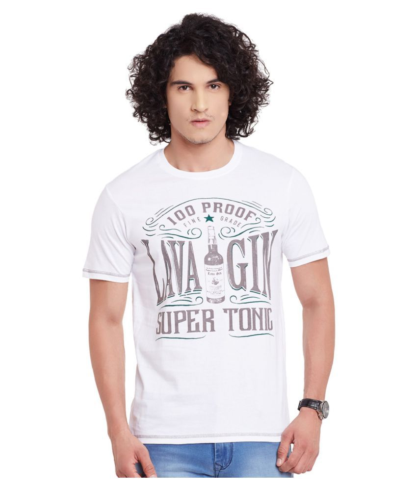 Fast n Fashion White Round T-Shirt
