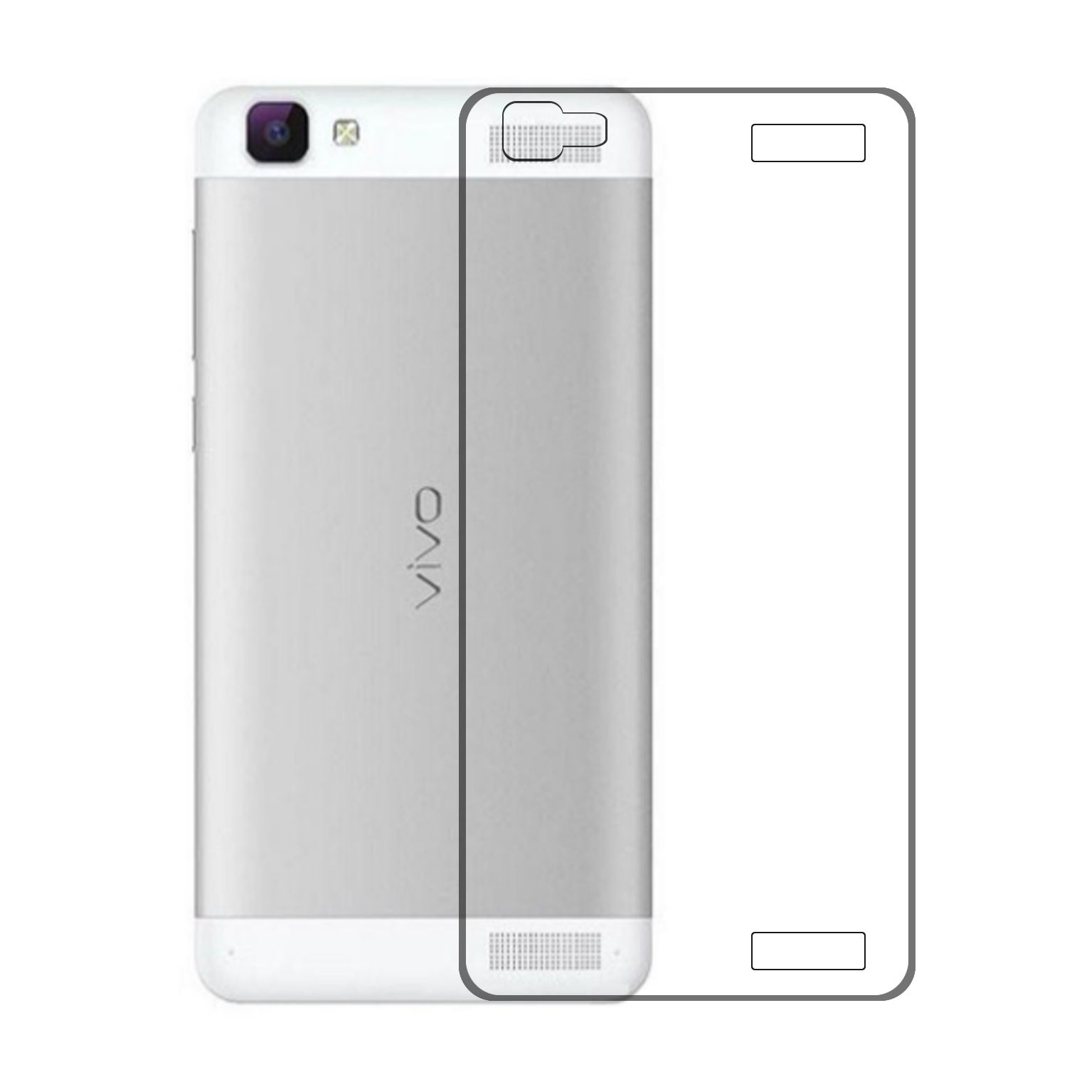 official photos fbc8b d1f37 Noise Transparent Clear Silicone Jelly Soft Case Back Cover For Vivo V1 Max