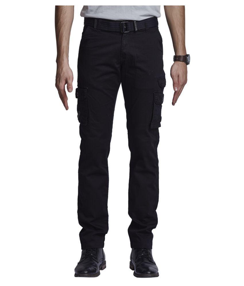 Beevee Black Regular Flat Trouser