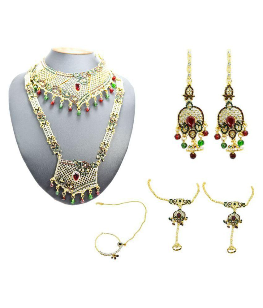 Chouhan Stylish Jewellery Bridal Collection Necklace Set Combo