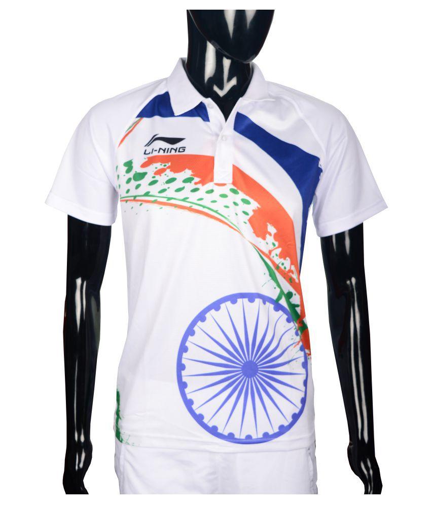 Li-Ning White Polyster T-Shirt