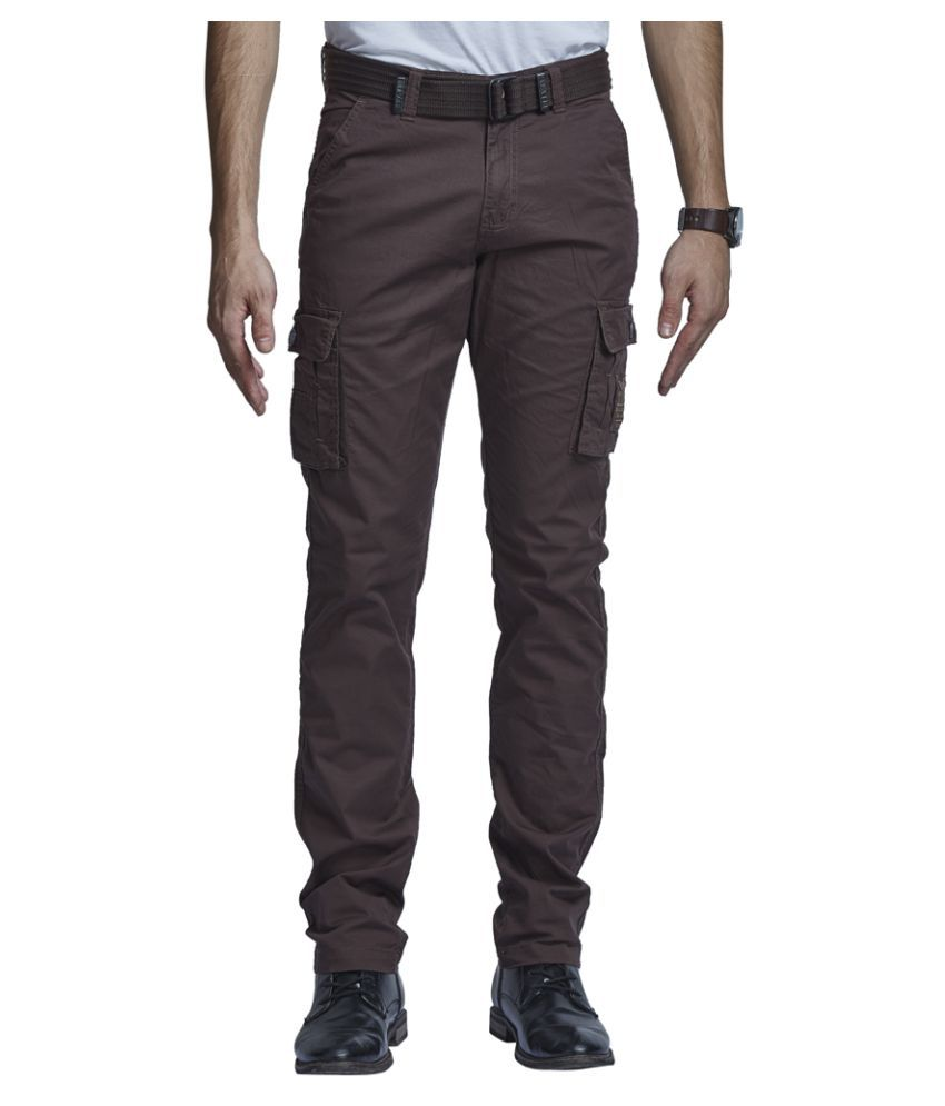Beevee Coffee Regular Flat Trouser
