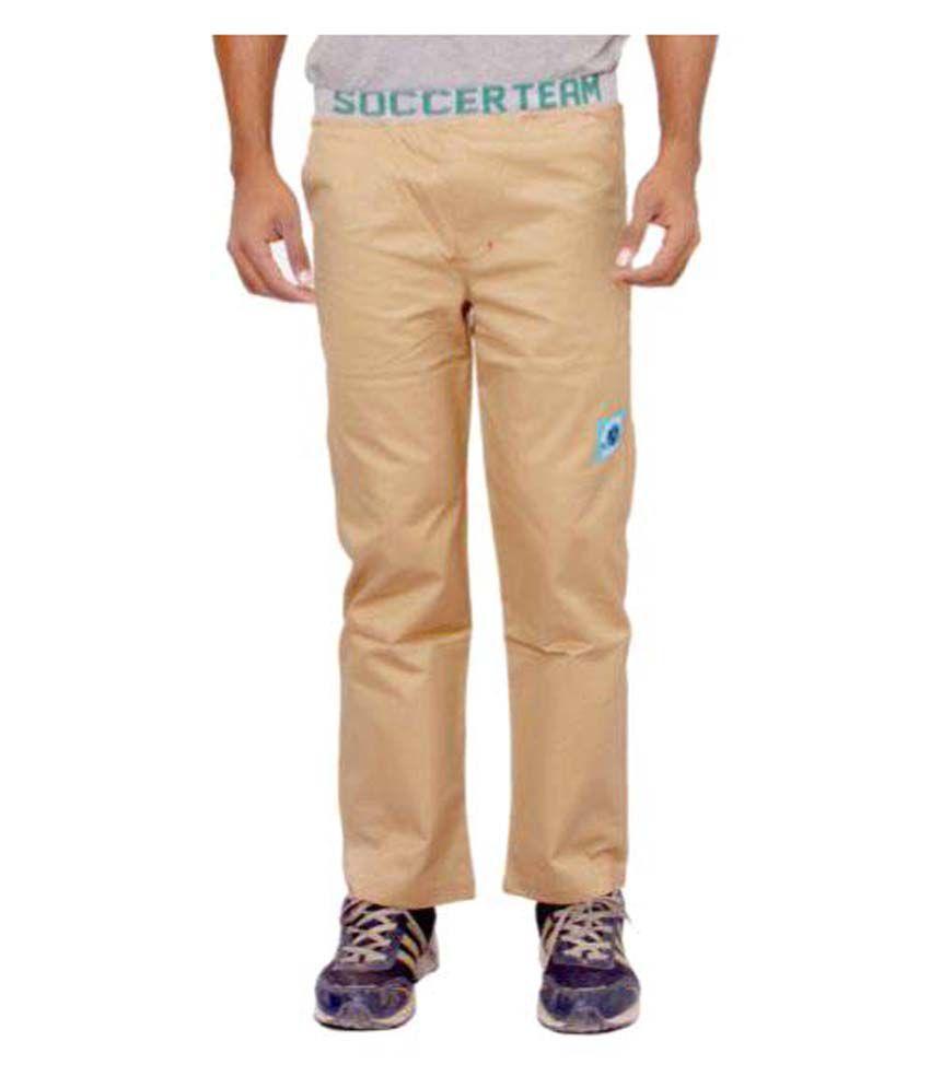 Wardtrobe Beige Regular Flat Trouser