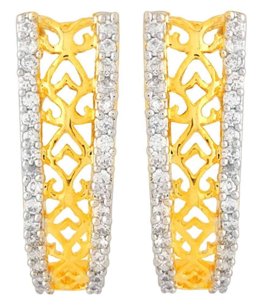 Voylla Gold Plated Brass Studs