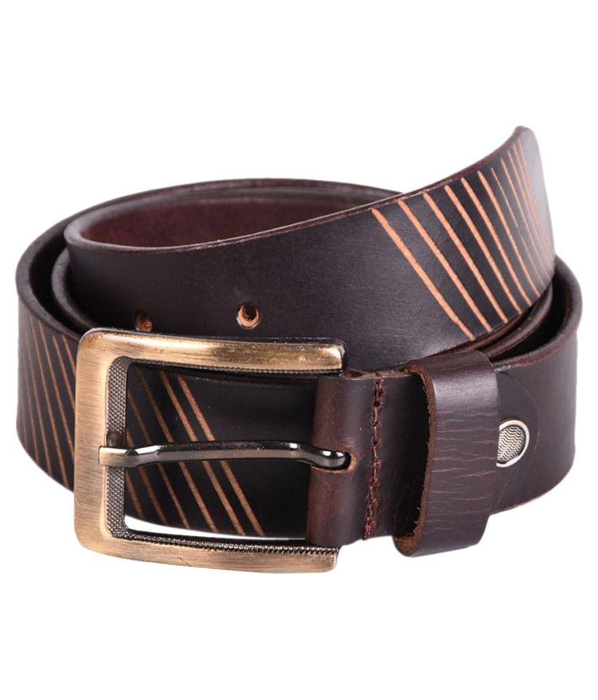 Reandro International Brown Leather Casual Belts