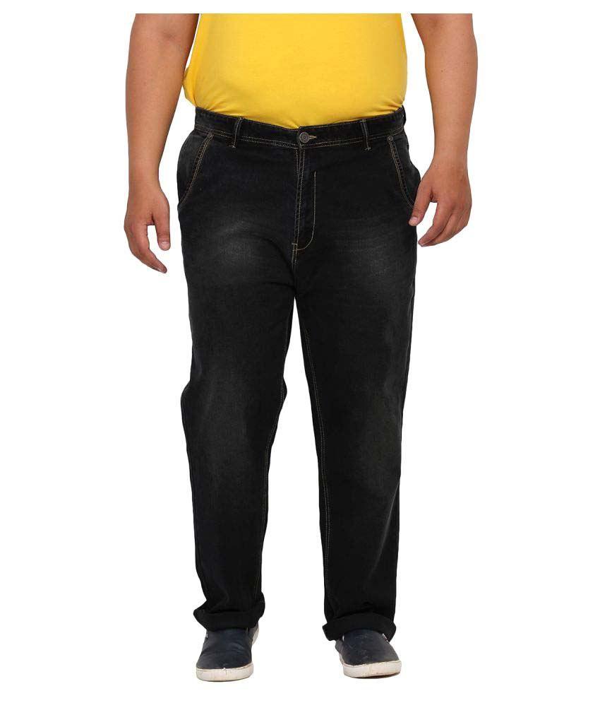 John Pride Black Regular Fit Solid