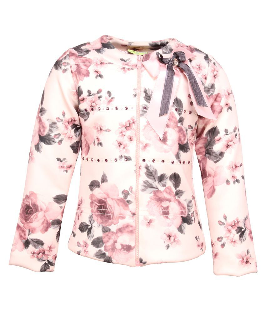 Cutecumber Girl's Floral Printed Jacket