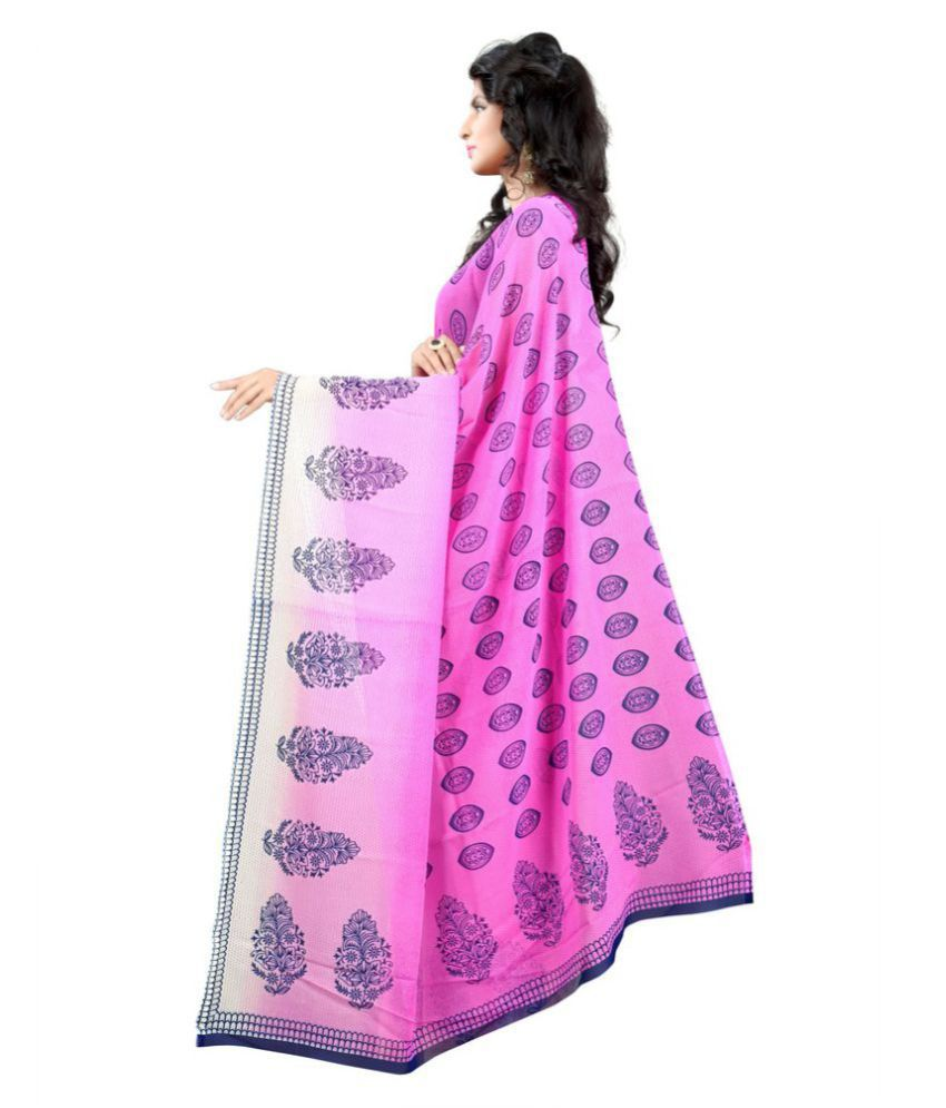 Chigy Whigy Pink Georgette Saree