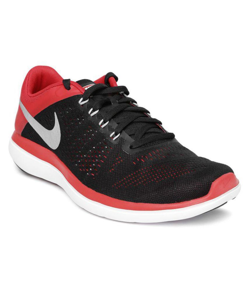 0fe4dcd8e2433f Nike FLEX 2016 RN Black Running Shoes - Buy Nike FLEX 2016 RN Black Running  Shoes Online at Best Prices in India on Snapdeal