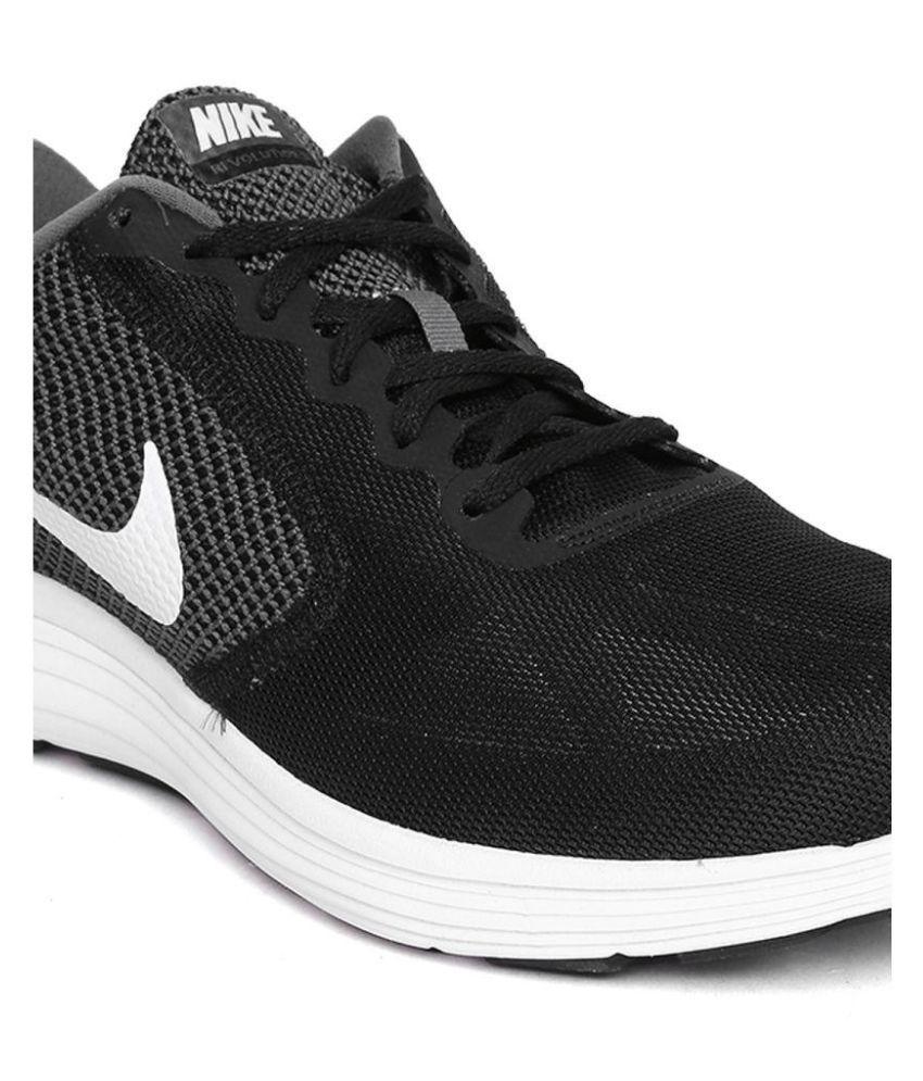 27d5d673bfb Nike NIKE REVOLUTION 3 Black Running Shoes - Buy Nike NIKE ...