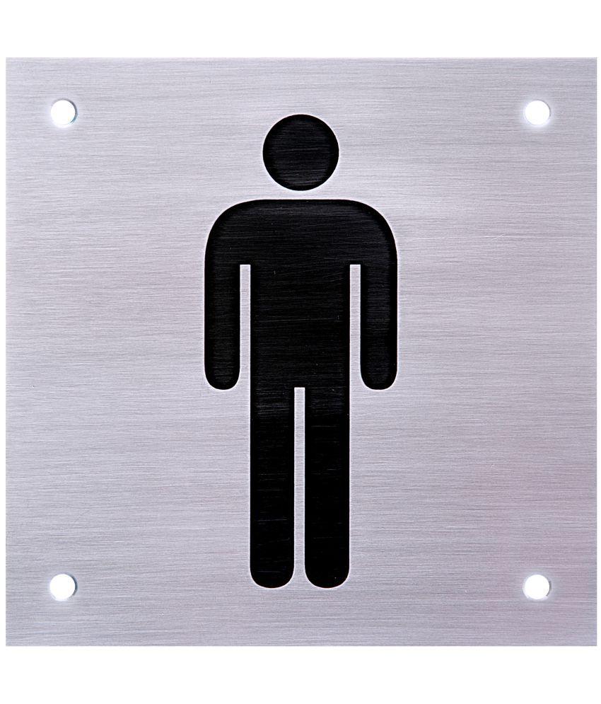 Shreyas Signages Male Toilet Logo Decorative Plate Multi: Buy ...