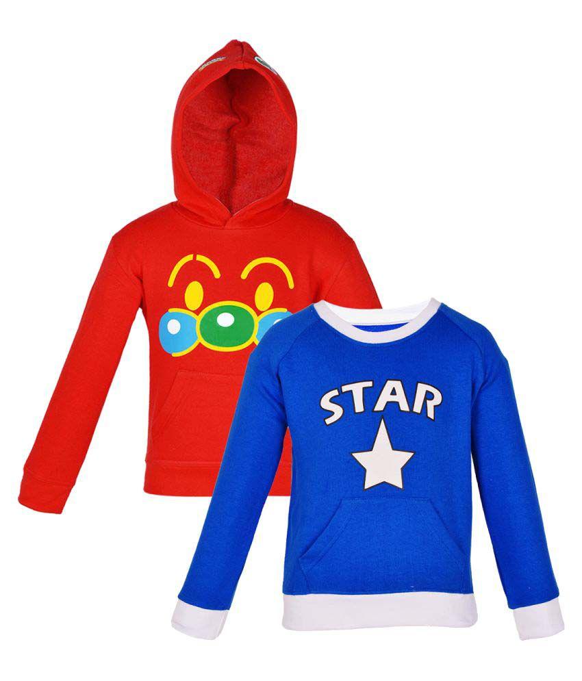 GKIDZ MultiColor Fleece Sweat Shirt Pack Of 2
