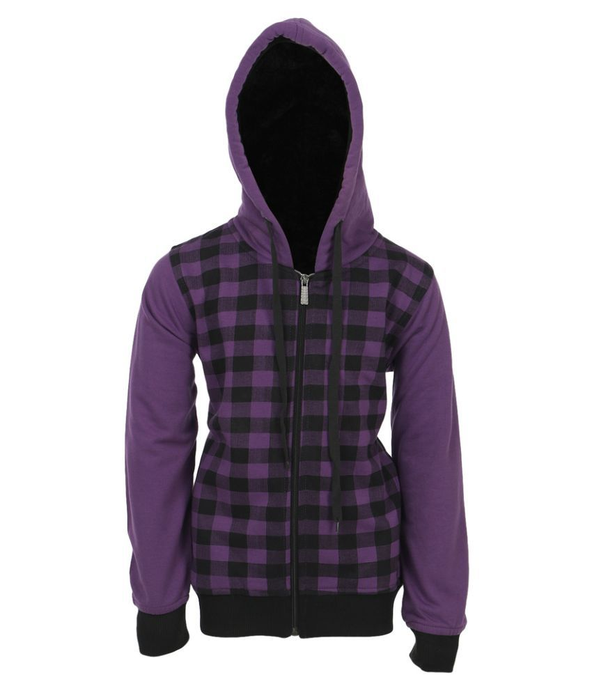 Haig-Dot Purple Fleece Sweatshirt