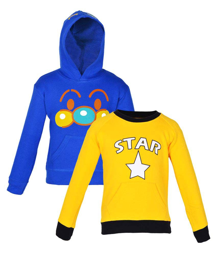 Gkidz Multicolour Crew Neck Sweatshirt - Pack of 2