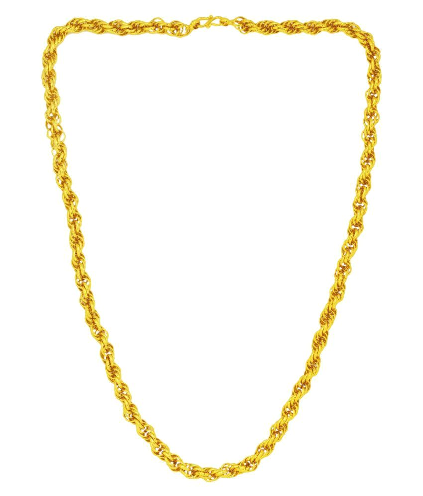 b69884d0639 Memoir Golden Brass Chains for men: Buy Online at Low Price in India -  Snapdeal