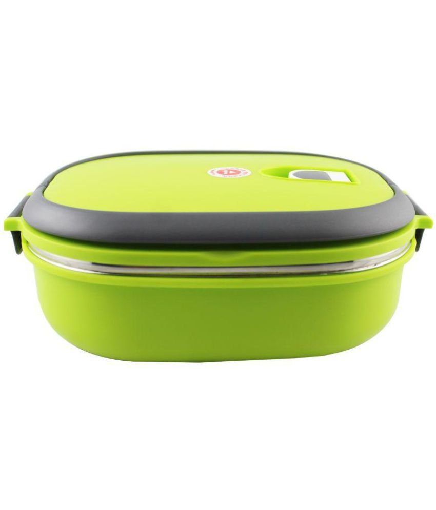 Shopizone Stainless Steel Hot Vacuum Insulated Lunch Boxes 900 ml Durable Lunch Box Single Layer